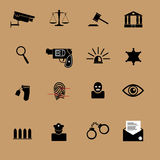 Justice crime and police icons Royalty Free Stock Image