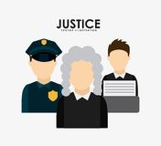Justice design Stock Images
