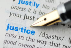 Justice - Dictionary Series Royalty Free Stock Photo