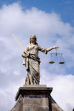 Justice. Dublin, Ireland. August 18, 2015. Statue of Iustitia, Lady Justice at Dublin Castle Royalty Free Stock Photos