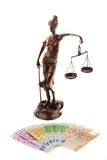 Justice and the euro. Stock Images