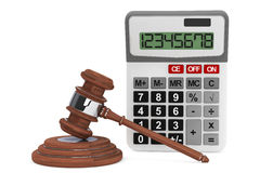 Justice Gavel with Calculator Royalty Free Stock Photo