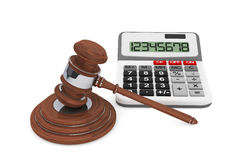 Justice Gavel with Calculator Stock Photos
