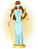Justice girl Stock Photo