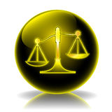 Justice glossy icon Stock Photos