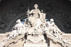 Justice Goddess. Statue of Justice Goddess in the Courthouse Palace of Rome, Italy Stock Photography