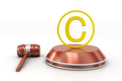 Justice hammer and copyright Stock Photo