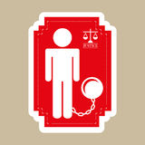 Justice icon Stock Photography