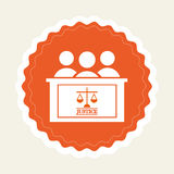 Justice icon Royalty Free Stock Images