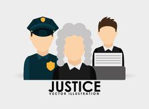 Justice icon design Stock Image