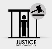 Justice icon design Stock Photo