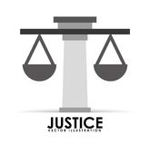 Justice icon design Royalty Free Stock Photography