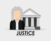 Justice icon design Stock Photography