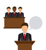 Justice icon Stock Photo