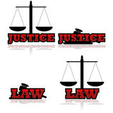 Justice icons Stock Images