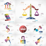 Justice infographic Image stock