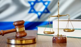 Justice for Israel Laws in Israeli Court. Israel Flag royalty free stock photos