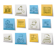Justice and Judicial System icons Royalty Free Stock Photos