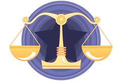 Justice, Jury and Verdict. An image of scales of justice Stock Photography