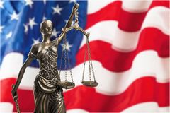 Justice. Law female judge judicial lawyer statue Royalty Free Stock Photo