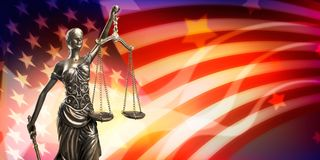 Justice. Law female judge judicial lawyer statue Stock Photo