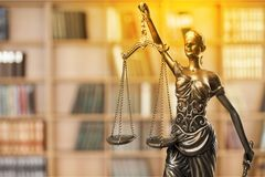 Justice. Law female judge judicial lawyer statue Stock Images
