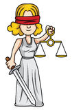 Justice lady Royalty Free Stock Photo