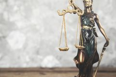 Justice lady on gray background royalty free stock images