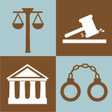 Justice and law design Stock Image
