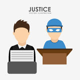 Justice and law design Royalty Free Stock Images
