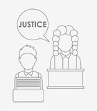 Justice and law design Royalty Free Stock Photo