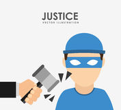 Justice and law design Stock Photo