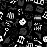 Justice and law gray seamless pattern Stock Images