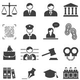 Justice, law, legal icons Royalty Free Stock Image