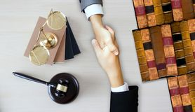 Justice Lawyer  Legal Trust in Team Lawyer of Law Win the Case l Royalty Free Stock Image