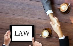 Justice Lawyer  Legal Trust in Team Lawyer of Law Win the Case l Royalty Free Stock Photos