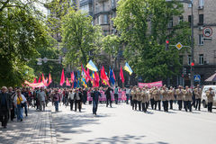 01.05.2014 Justice march in Kiev. International Workers' Day (also known as May Day) Royalty Free Stock Photos