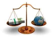 Justice and money Stock Images