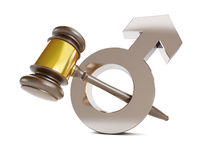 Justice over men. On a white background Royalty Free Stock Photos