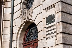 The Justice Palace of Bayreuth royalty free stock photos