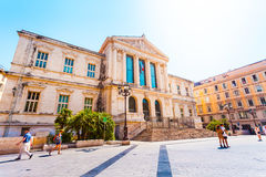 Justice Palace in the old town of Nice, France Stock Images