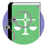 Justice and punishment icon Stock Images