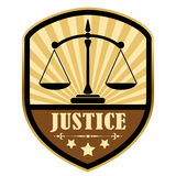 Justice retro label Royalty Free Stock Photo