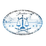 Justice rubber stamp Royalty Free Stock Photo