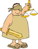 Justice sans visibilité illustration libre de droits