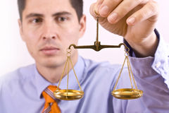 Justice scale royalty free stock photography
