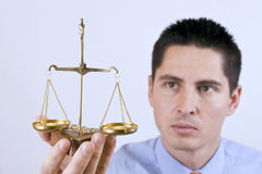 Justice scale stock photography