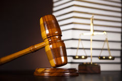 Justice Scale and Gavel concept Stock Photos