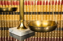 Justice scale with law books Royalty Free Stock Photography