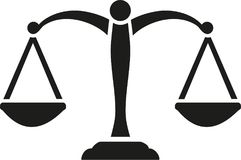 Justice Scale vector. Occupation vector Royalty Free Stock Image